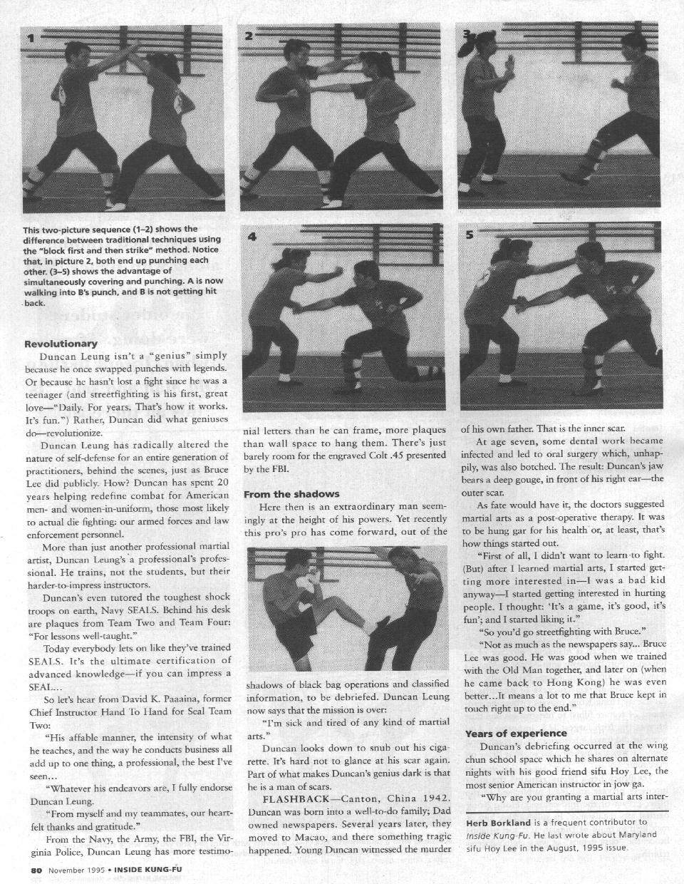 Inside Kung Fu November 1995 page 3